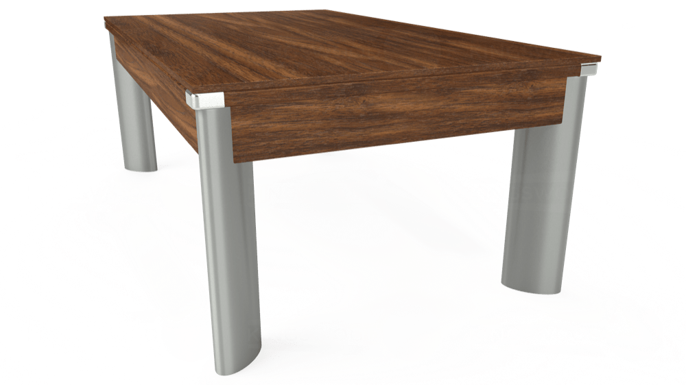 7ft Fusion Pool Dining Table in Dark Walnut with Hainsworth Elite-Pro Orange cloth delivered and installed - £1,270.00