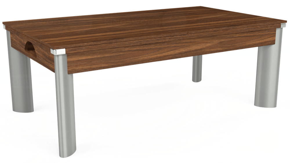 7ft Fusion Pool Dining Table in Dark Walnut with Hainsworth Elite-Pro Powder Blue cloth delivered and installed - £1,350.00