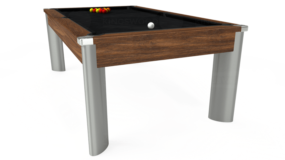 7ft Fusion Pool Dining Table in Dark Walnut with Hainsworth Smart Black cloth delivered and installed - £1,350.00