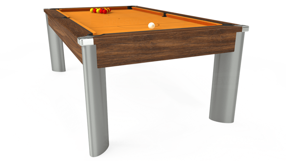 7ft Fusion Pool Dining Table in Dark Walnut with Hainsworth Smart Gold cloth delivered and installed - £1,350.00