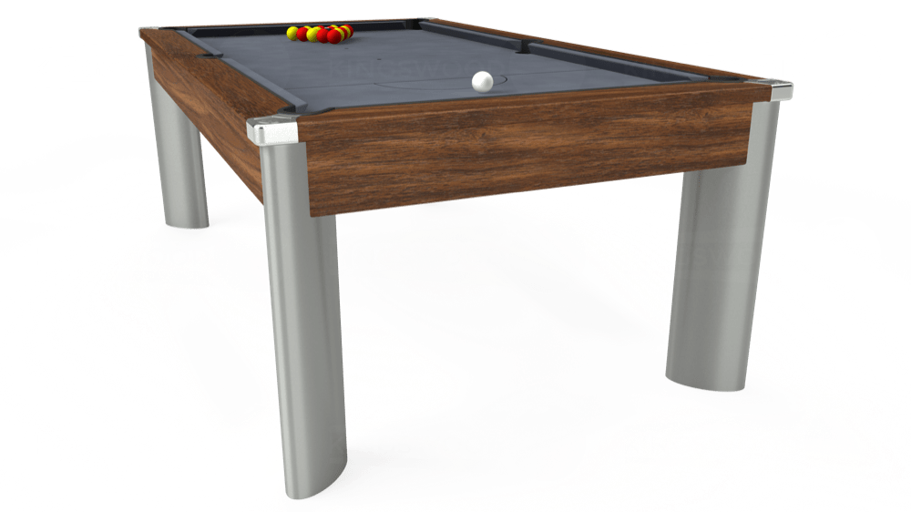 7ft Fusion Pool Dining Table in Dark Walnut with Hainsworth Smart Silver cloth delivered and installed - £1,270.00