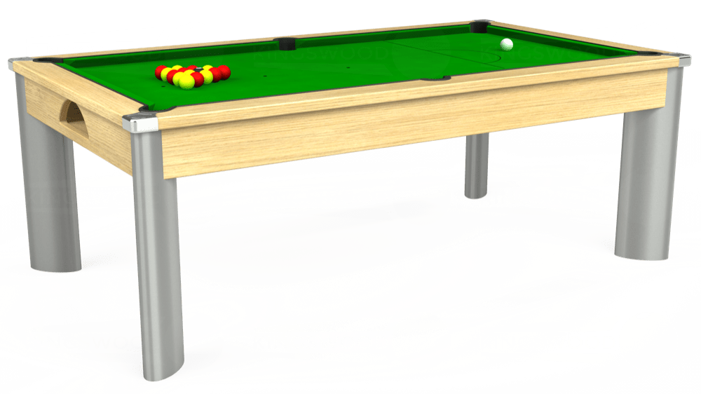 7ft Fusion Pool Dining Table in Light Oak with Standard Green cloth delivered and installed - £1,170.00