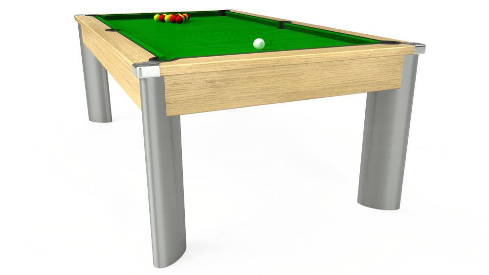 7ft Fusion Pool Dining Table in Light Oak with Standard Green cloth delivered and installed - £1,250.00