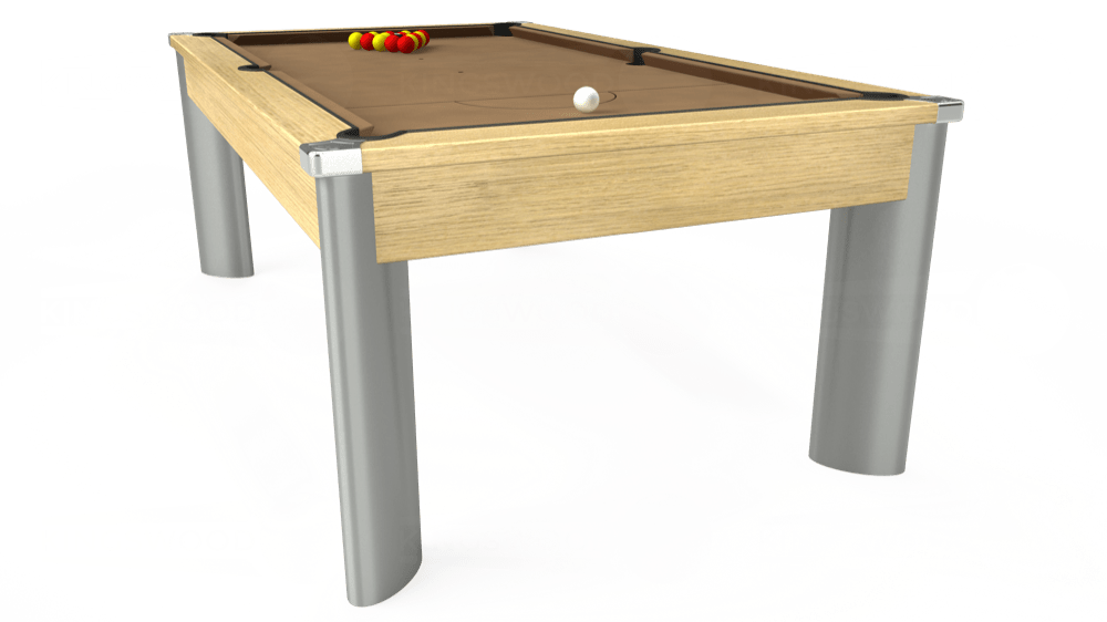 7ft Fusion Pool Dining Table in Light Oak with Hainsworth Elite-Pro Camel cloth delivered and installed - £1,350.00