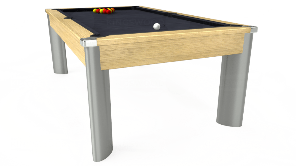 7ft Fusion Pool Dining Table in Light Oak with Hainsworth Elite-Pro Charcoal cloth delivered and installed - £1,350.00
