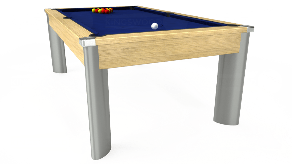 7ft Fusion Pool Dining Table in Light Oak with Hainsworth Elite-Pro Royal Blue cloth delivered and installed - £1,440.00