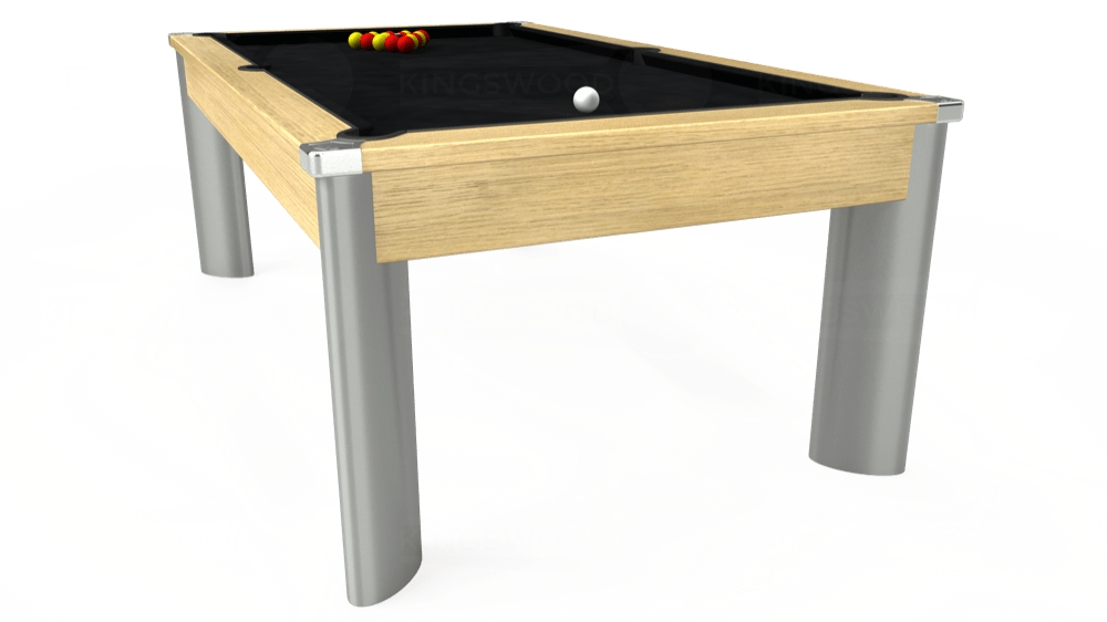 7ft Fusion Pool Dining Table in Light Oak with Hainsworth Smart Black cloth delivered and installed - £1,350.00