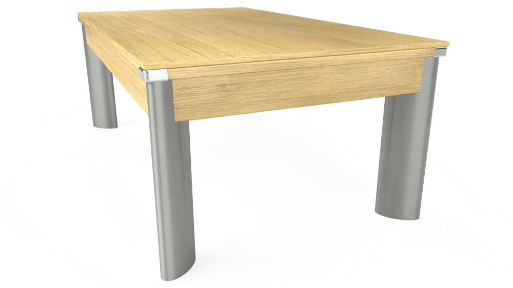 7ft Fusion Pool Dining Table in Light Oak with Hainsworth Smart Olive cloth delivered and installed - £1,350.00