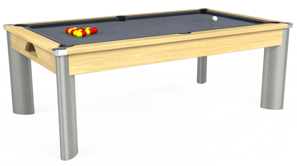 7ft Fusion Pool Dining Table in Light Oak with Hainsworth Smart Silver cloth delivered and installed - £1,440.00