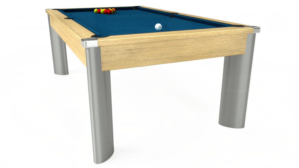 7ft Fusion Pool Dining Table in Light Oak with Hainsworth Smart Slate cloth delivered and installed - £1,320.00