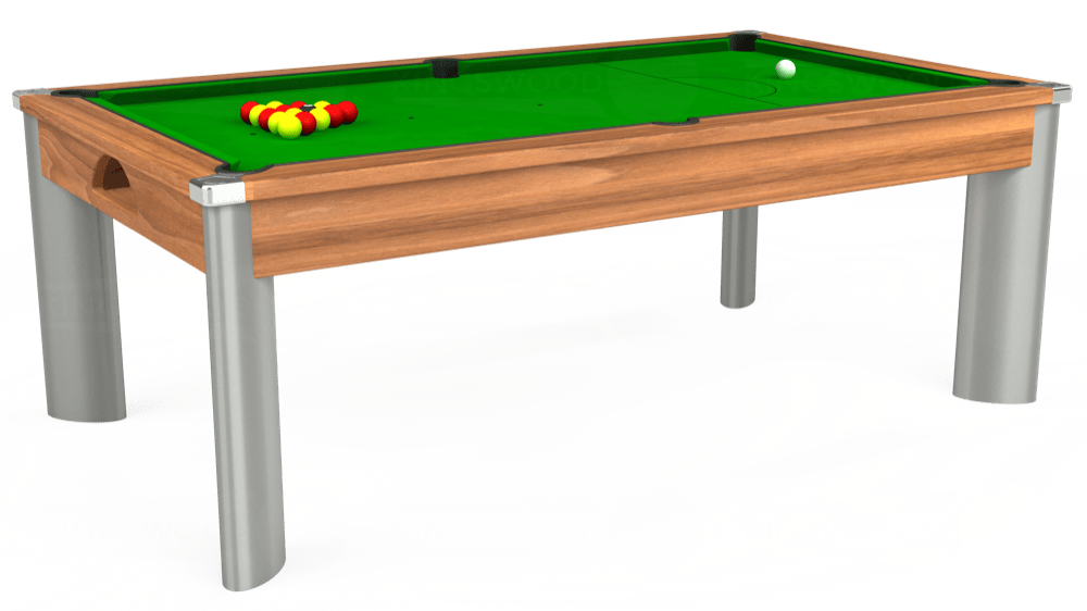 7ft Fusion Pool Dining Table in Light Walnut with Standard Green cloth delivered and installed - £1,220.00