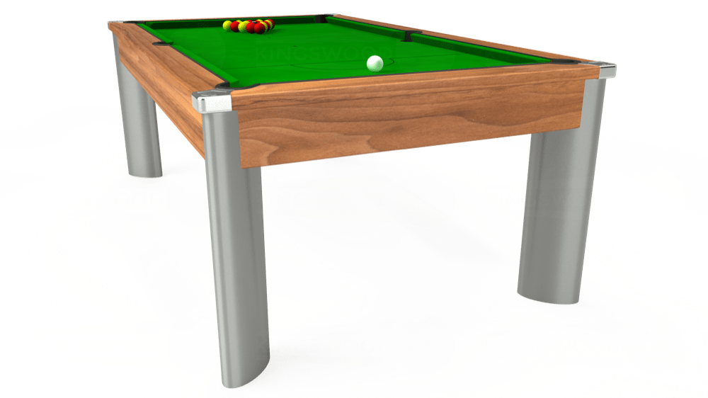 7ft Fusion Pool Dining Table in Light Walnut with Standard Green cloth delivered and installed - £1,250.00
