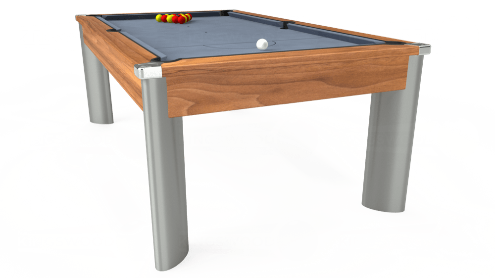 7ft Fusion Pool Dining Table in Light Walnut with Hainsworth Elite-Pro Bankers Grey cloth delivered and installed - £1,320.00