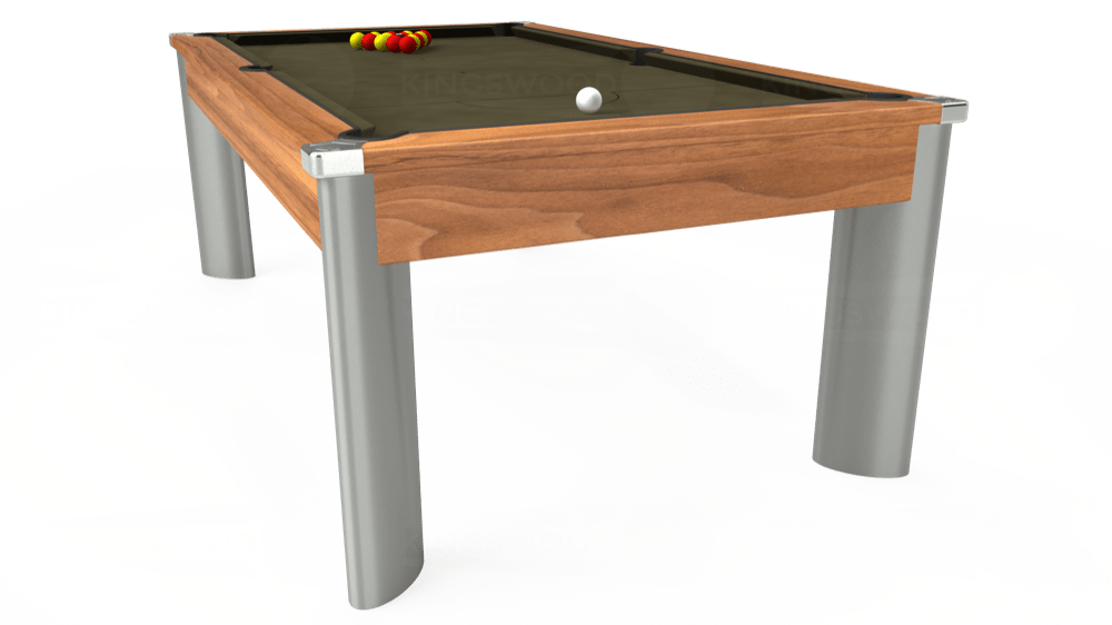7ft Fusion Pool Dining Table in Light Walnut with Hainsworth Elite-Pro Olive cloth delivered and installed - £1,350.00
