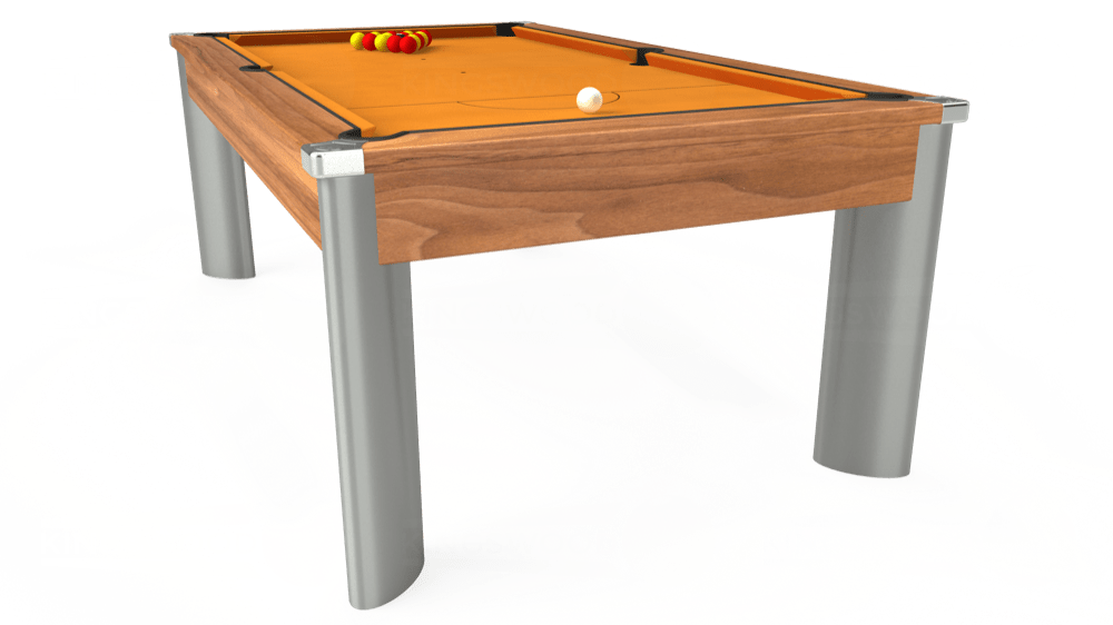 7ft Fusion Pool Dining Table in Light Walnut with Hainsworth Smart Gold cloth delivered and installed - £1,350.00