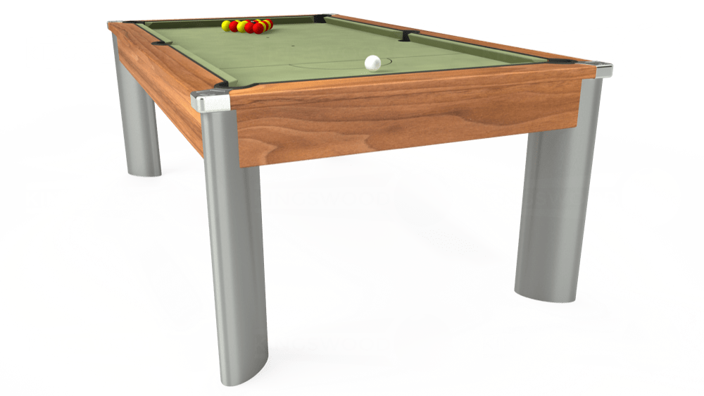 7ft Fusion Pool Dining Table in Light Walnut with Hainsworth Smart Sage cloth delivered and installed - £1,320.00