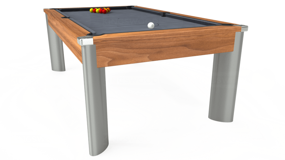 7ft Fusion Pool Dining Table in Light Walnut with Hainsworth Smart Silver cloth delivered and installed - £1,270.00