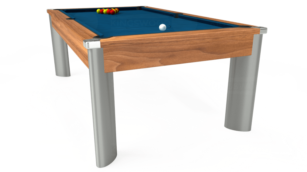 7ft Fusion Pool Dining Table in Light Walnut with Hainsworth Smart Slate cloth delivered and installed - £1,350.00