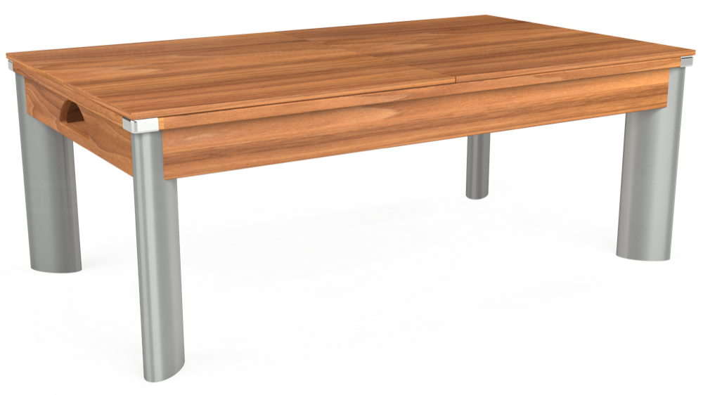 7ft Fusion Pool Dining Table in Light Walnut with Hainsworth Smart Taupe cloth delivered and installed - £1,350.00