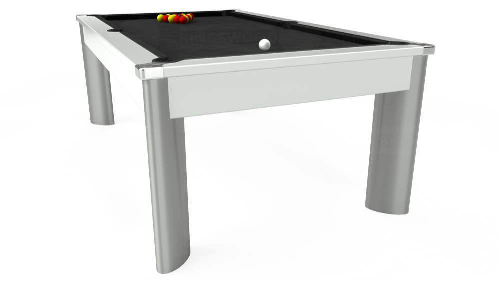 7ft Fusion Pool Dining Table in White with Standard Black cloth delivered and installed - £1,250.00