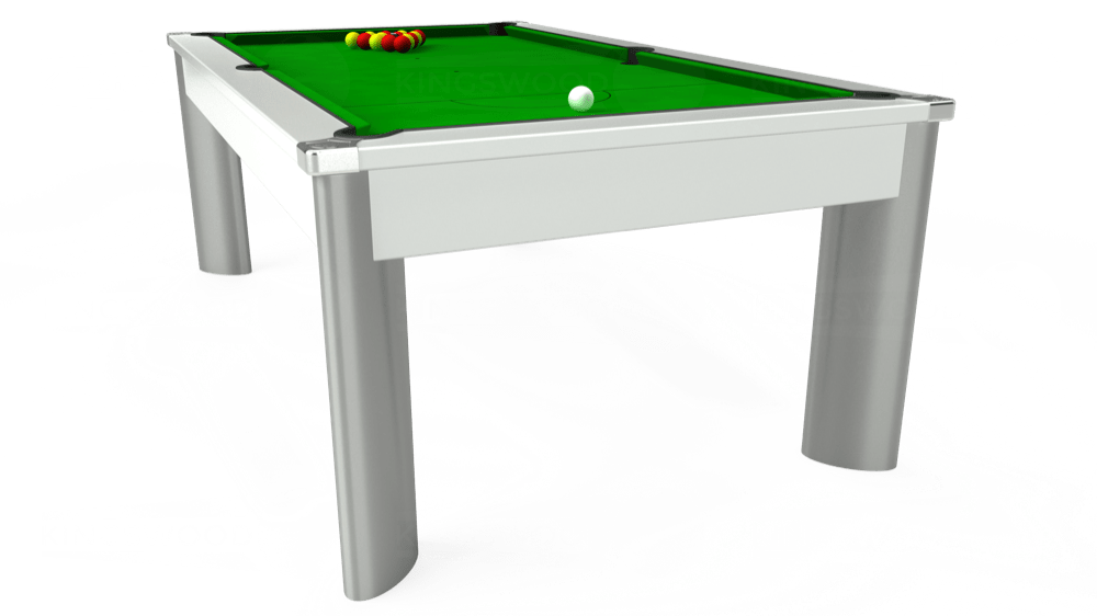 7ft Fusion Outdoor Pool Dining Table in White with Standard Green cloth delivered and installed - £1,560.00