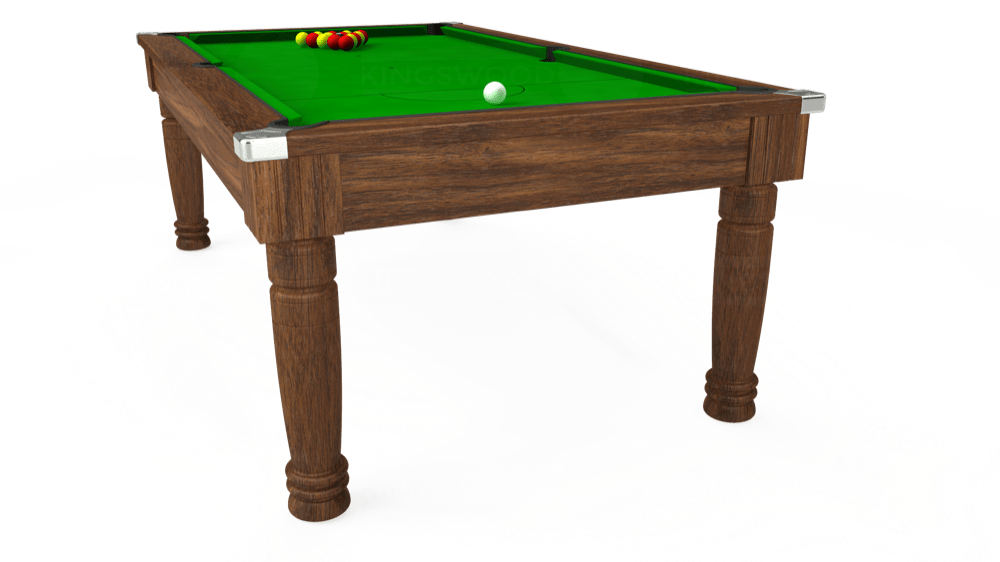 7ft Majestic Pool Dining Table in Dark Walnut with Standard Green cloth delivered and installed - £975.00