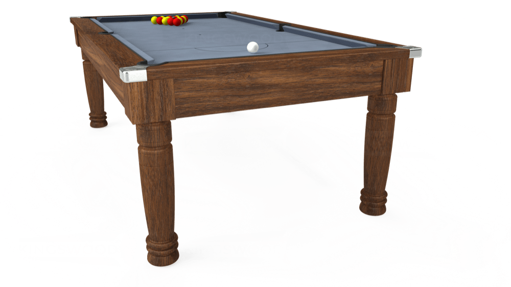 7ft Majestic Pool Dining Table in Dark Walnut with Hainsworth Elite-Pro Bankers Grey cloth delivered and installed - £1,280.00