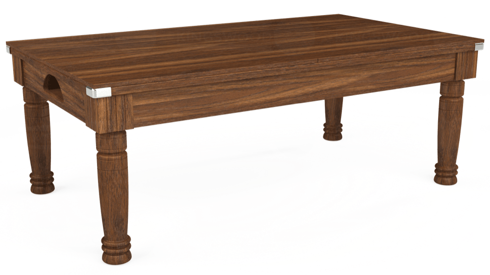 7ft Majestic Pool Dining Table in Dark Walnut with Hainsworth Elite-Pro Petrol Blue cloth delivered and installed - £1,280.00
