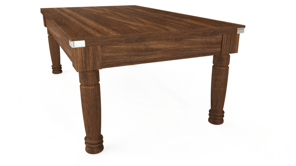 7ft Majestic Pool Dining Table in Dark Walnut with Hainsworth Elite-Pro Red cloth delivered and installed - £1,280.00