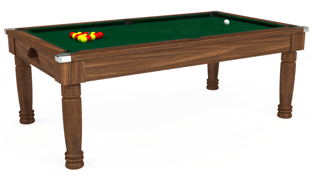 7ft Majestic Pool Dining Table in Dark Walnut with Hainsworth Elite-Pro Spruce cloth delivered and installed - £1,280.00