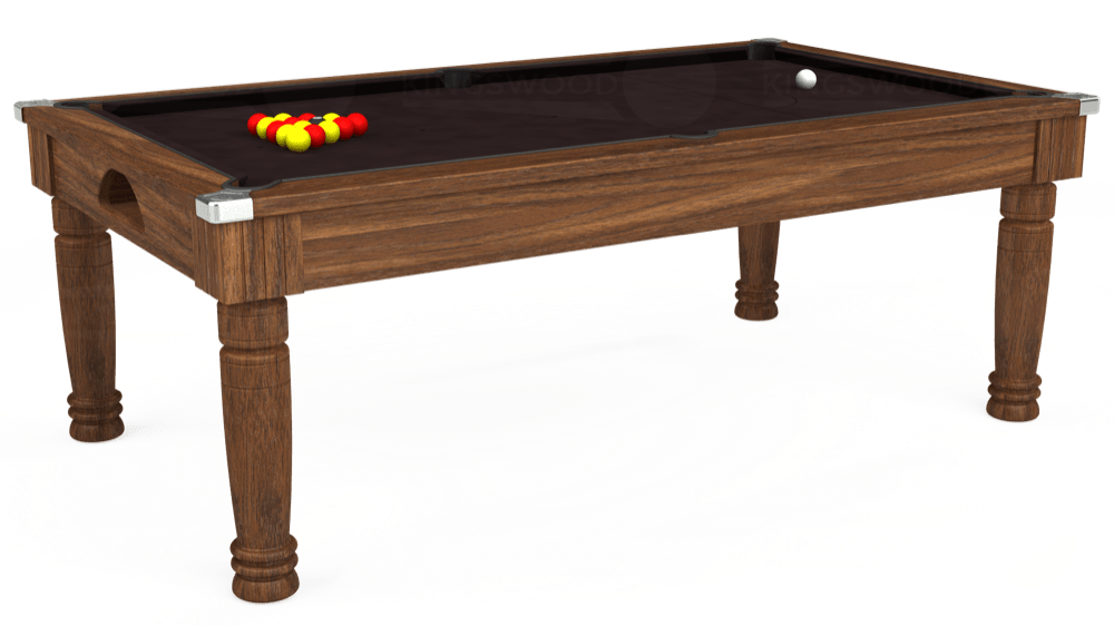7ft Majestic Pool Dining Table in Dark Walnut with Hainsworth Smart Nutmeg cloth delivered and installed - £1,280.00