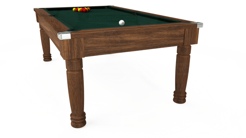 7ft Majestic Pool Dining Table in Dark Walnut with Hainsworth Smart Ranger Green cloth delivered and installed - £1,280.00