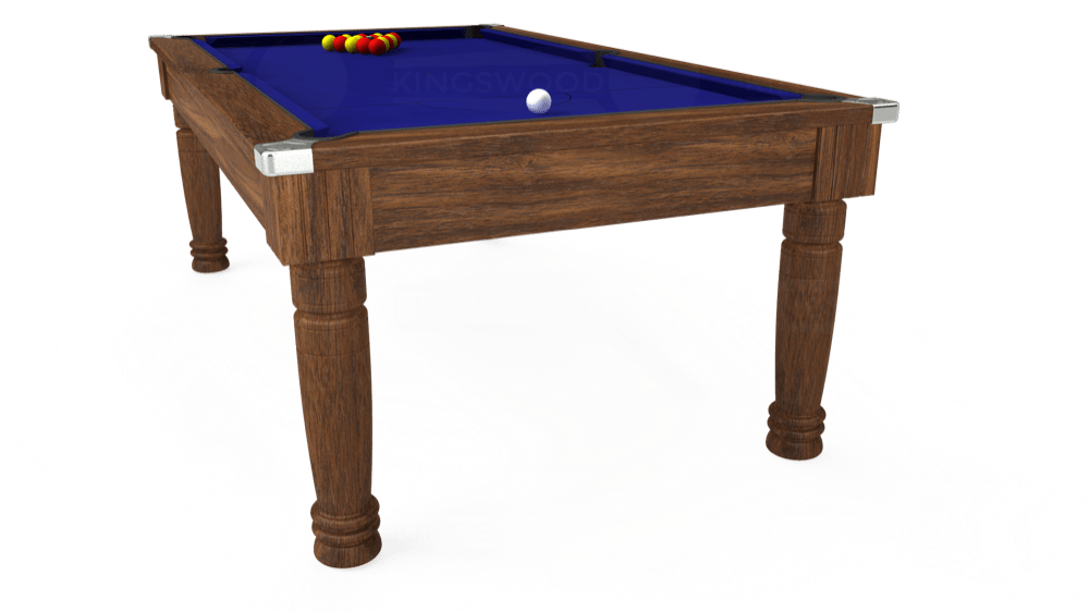 7ft Majestic Pool Dining Table in Dark Walnut with Hainsworth Smart Royal Blue cloth delivered and installed - £1,280.00
