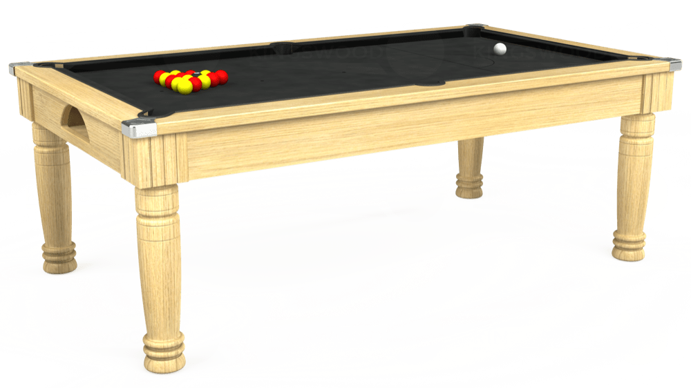 7ft Majestic Pool Dining Table in Light Oak with Standard Black cloth delivered and installed - £1,180.00