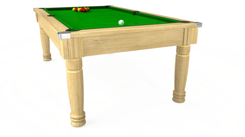 6ft Majestic Pool Dining Table in Light Oak with Standard Green cloth delivered and installed - £1,180.00