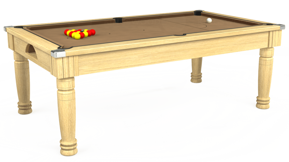 7ft Majestic Pool Dining Table in Light Oak with Hainsworth Elite-Pro Camel cloth delivered and installed - £1,280.00
