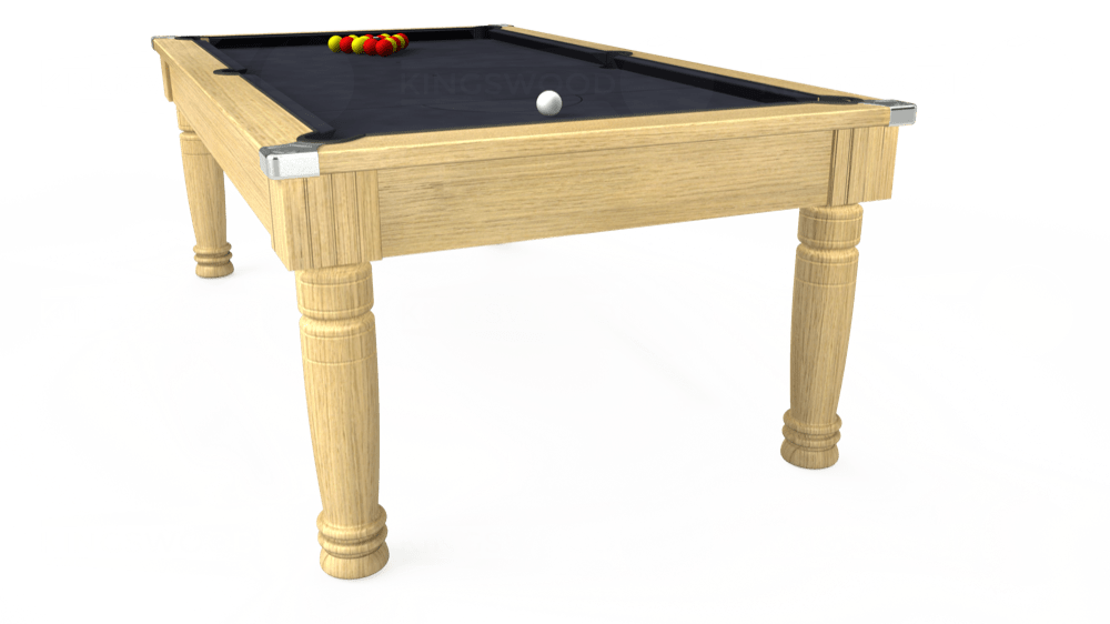 7ft Majestic Pool Dining Table in Light Oak with Hainsworth Elite-Pro Charcoal cloth delivered and installed - £1,280.00