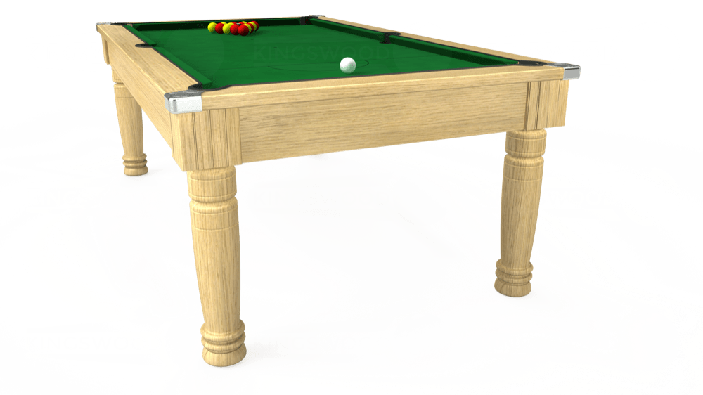 7ft Majestic Pool Dining Table in Light Oak with Hainsworth Elite-Pro English Green cloth delivered and installed - £1,280.00
