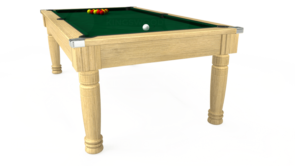 7ft Majestic Pool Dining Table in Light Oak with Hainsworth Elite-Pro Spruce cloth delivered and installed - £1,280.00