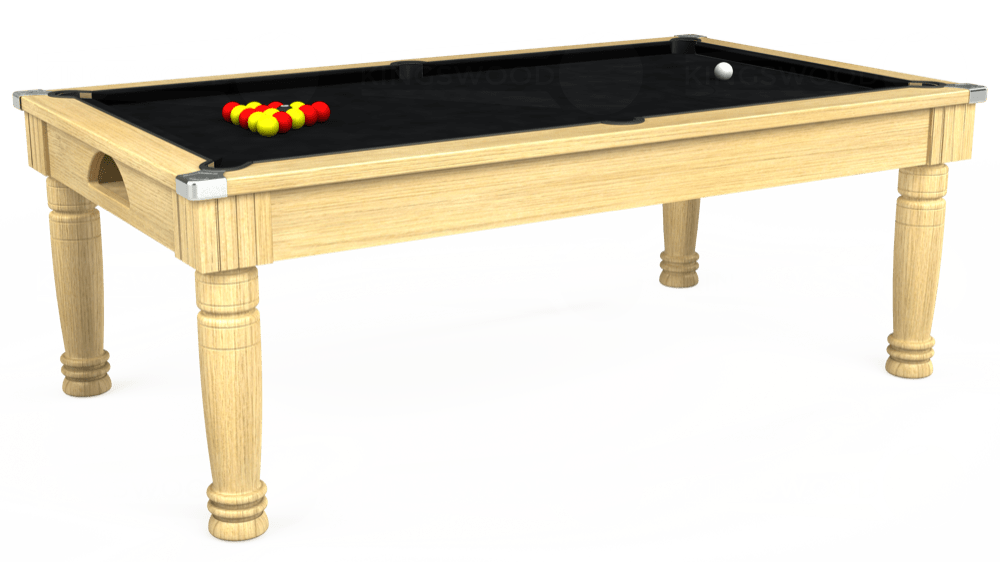 7ft Majestic Pool Dining Table in Light Oak with Hainsworth Smart Black cloth delivered and installed - £1,280.00
