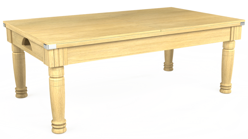 7ft Majestic Pool Dining Table in Light Oak with Hainsworth Smart Cherry cloth delivered and installed - £1,280.00