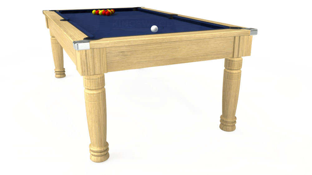 7ft Majestic Pool Dining Table in Light Oak with Hainsworth Smart Navy cloth delivered and installed - £1,280.00