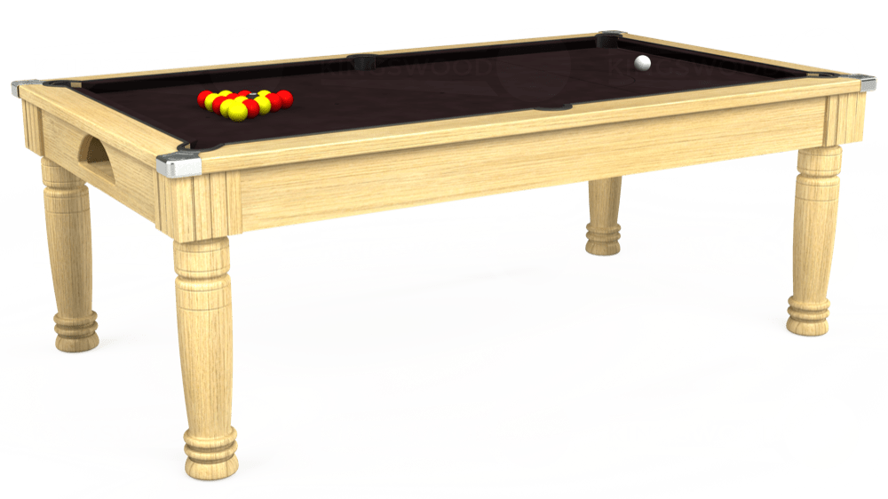 7ft Majestic Pool Dining Table in Light Oak with Hainsworth Smart Nutmeg cloth delivered and installed - £1,280.00