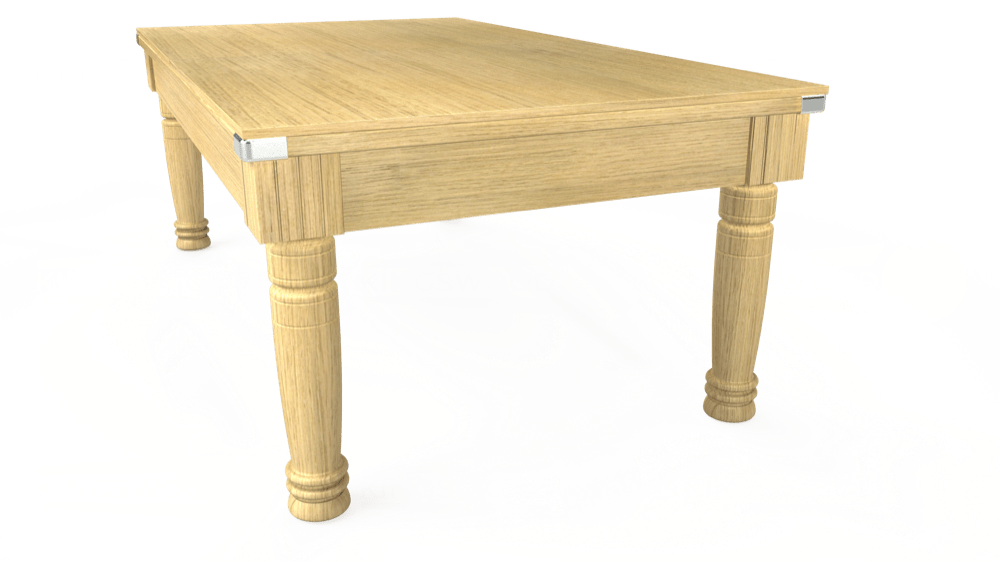 7ft Majestic Pool Dining Table in Light Oak with Hainsworth Smart Olive cloth delivered and installed - £1,280.00