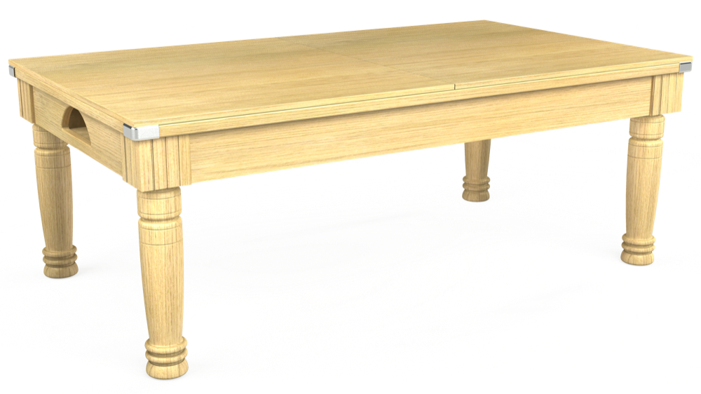 7ft Majestic Pool Dining Table in Light Oak with Hainsworth Smart Windsor Red cloth delivered and installed - £1,150.00
