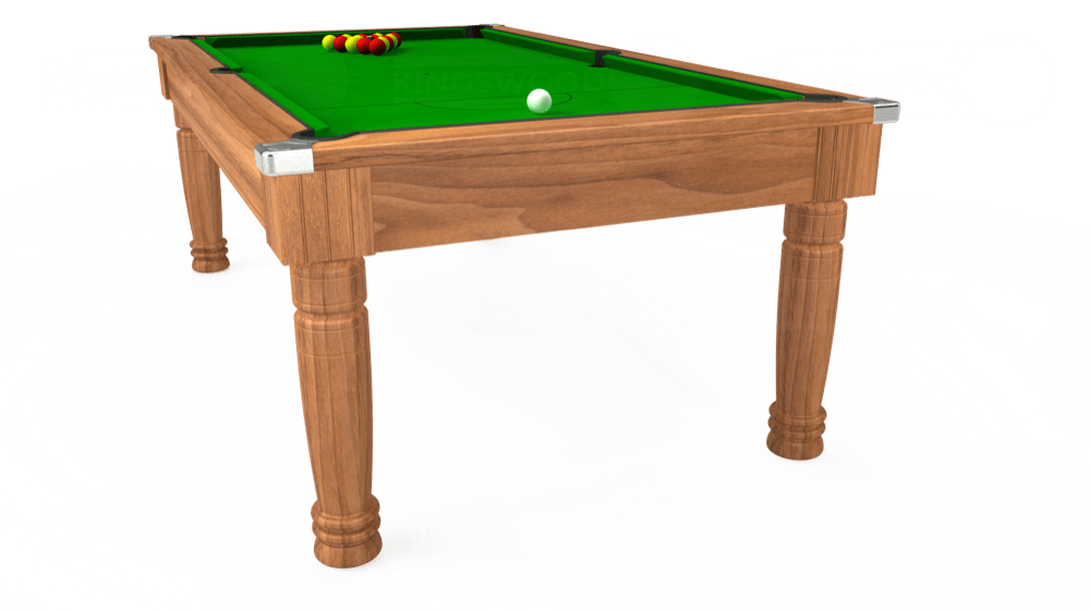 7ft Majestic Pool Dining Table in Light Walnut with Standard Green cloth delivered and installed - £1,180.00