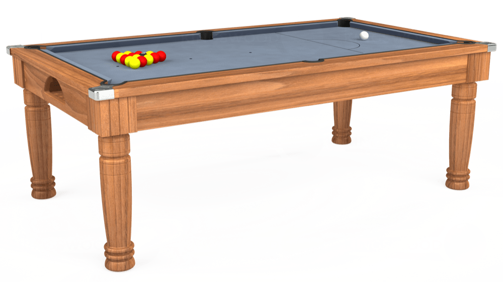 7ft Majestic Pool Dining Table in Light Walnut with Hainsworth Elite-Pro Bankers Grey cloth delivered and installed - £1,280.00