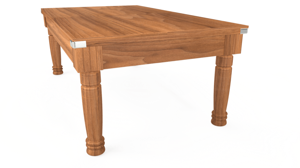 7ft Majestic Pool Dining Table in Light Walnut with Hainsworth Elite-Pro Burgundy cloth delivered and installed - £1,280.00