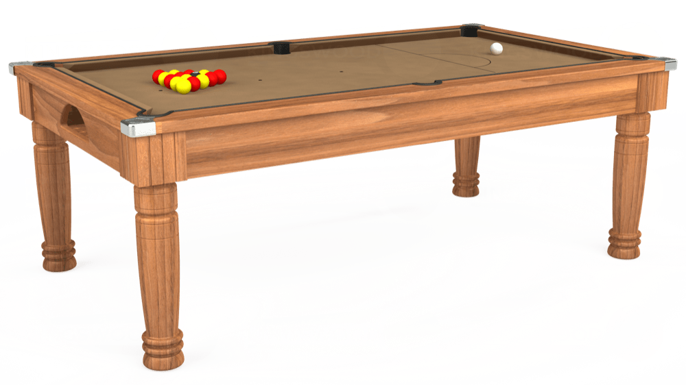7ft Majestic Pool Dining Table in Light Walnut with Hainsworth Elite-Pro Camel cloth delivered and installed - £1,280.00