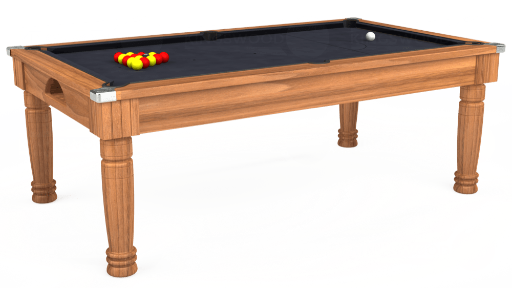 7ft Majestic Pool Dining Table in Light Walnut with Hainsworth Elite-Pro Charcoal cloth delivered and installed - £1,280.00